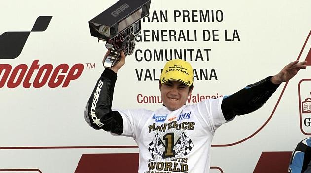 Maverick Viñales, campeón de Moto3