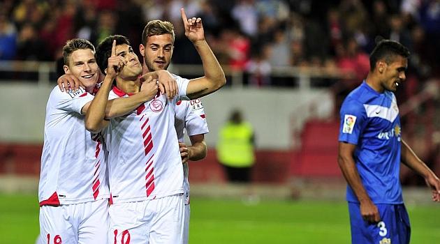 El Sevilla, con el 16 en el pecho