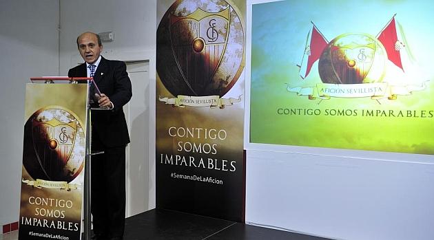 José María del Nido, en la presentación de la Semana de la Afición, ayer. KIKO HURTADO