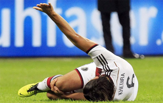 El Madrid pierde a Khedira hasta final de temporada