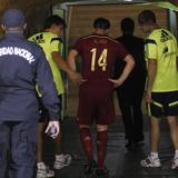 Xabi Alonso sufre una contusión en su tobillo izquierdo