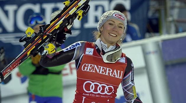 Mikaela Shiffrin celebra su victoria / AFP