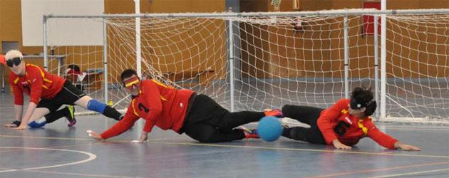 La selección española masculina entrenando antes del Europeo de Turquía. Foto: Goalball.es