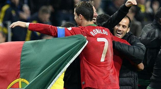 Cristiano, m�ximo goleador de la historia de Portugal