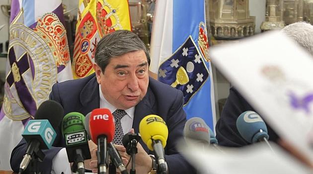 Lendoiro, durante la rueda de prensa de esta semana / Amador Lorenzo (Marca)