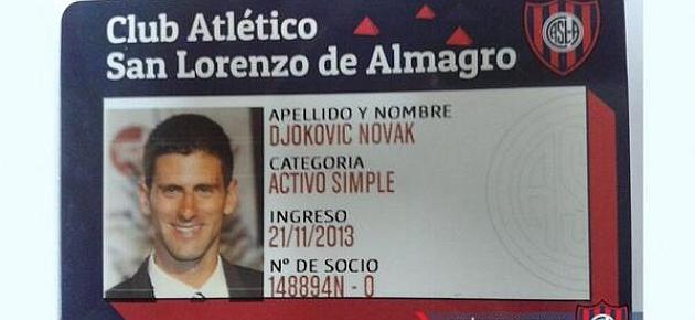 Djokovic, nuevo socio de San Lorenzo