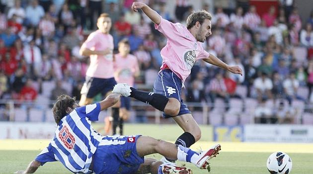 Lugo y Deportivo se vieron las caras hace un a�o y medio en un amistoso / Luisa Portela (Marca)
