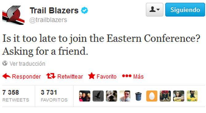 Los Portland Trail Blazers 'trollean' a la conferencia Este