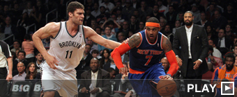 Brook Lopez y Carmelo Anthony