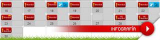 Calendario de la temporada