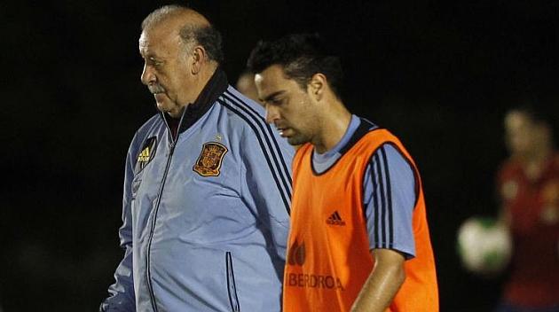 Del Bosque le da bola a Xavi