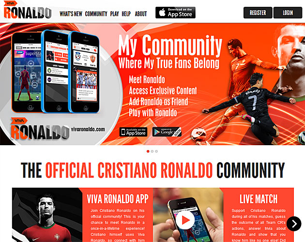 Cristiano Ronaldo launches his own social network