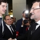Encuentro de Courtois y Alderweireld con Rajoy y Van Rompuy