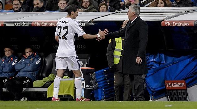 Ancelotti no castiga a Di María: Mi confianza en él es total