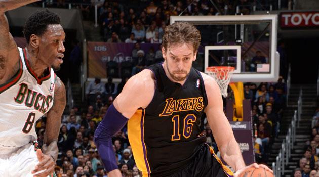 Ni un gran Gasol, centenario y mermado, impide la sexta derrota seguida de los Lakers