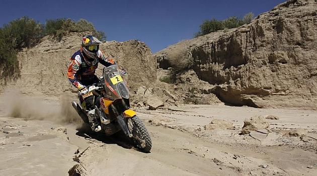 Marc Coma, durante la cuarta etapa del Dakar / Foto: Ram�n Navarro