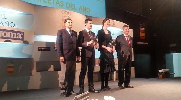 Ruth Beitia y Miguel Ángel López proclamados mejores atletas del año