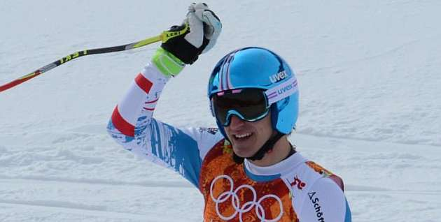 Matthias Mayer, medalla de oro en descenso