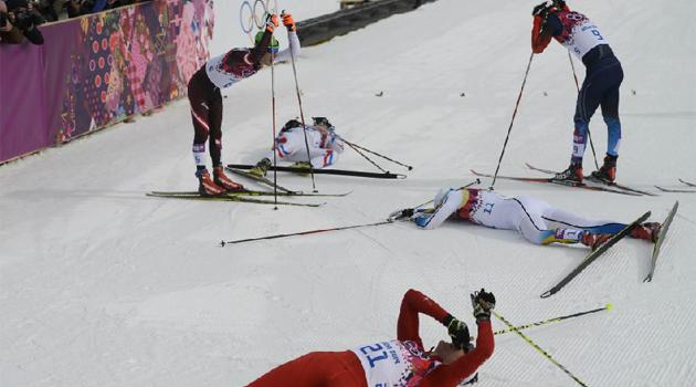 El suizo Cologna gana al esprint los 30 kilómetros de esquí de fondo