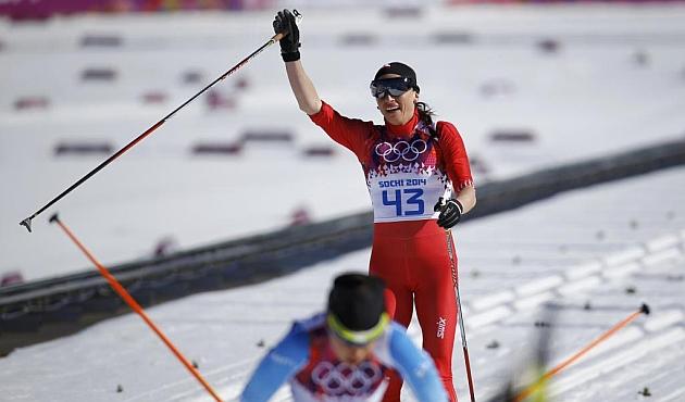 La polaca Justyna Kowalczyk, vencedora de la prueba. / Reuters