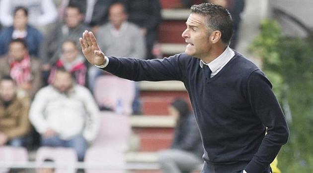 Lluis Carreras, durante un partido del Sabadell de la pasada temporada / Marca
