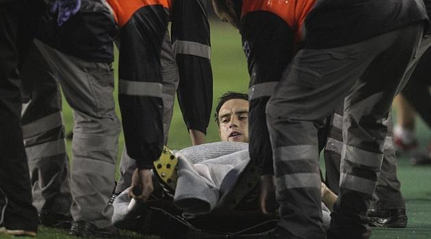 Goni, lesionado durante un partido de la pasada temporada / Joma (Marca)