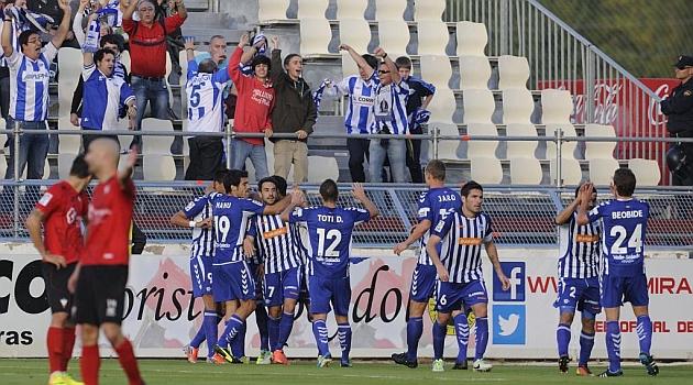 Los jugadores del Alav�s celebran uno de los tres goles marcados en Anduva / Marca
