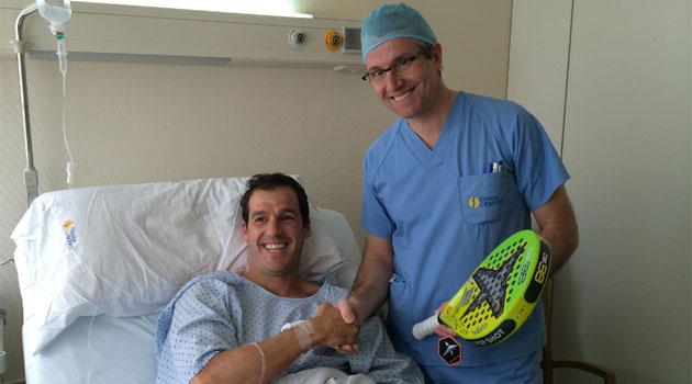 Juan Mart�n D�az, n�mero uno del mundo, operado con �xito en la Cl�nica CEMTRO
