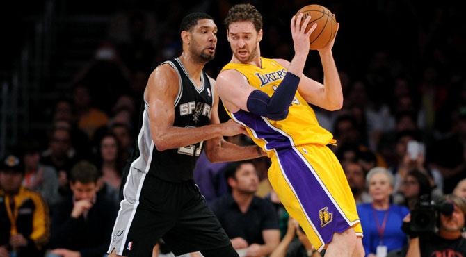 Los Spurs sufren el poder�o de Gasol para llevarse el triunfo ante los Lakers