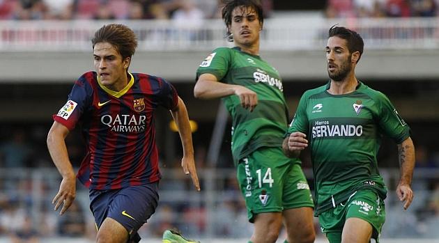 Denis Su�rez en el partido de la primera vuelta ante el Eibar / Francesc Adelantado (Marca)