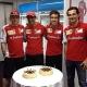 Alonso, Räikkönen y De la Rosa celebran el cumpleaños de Gené