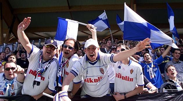 Aficionados del Zaragoza en Los Pajaritos, en una foto de archivo / Marca
