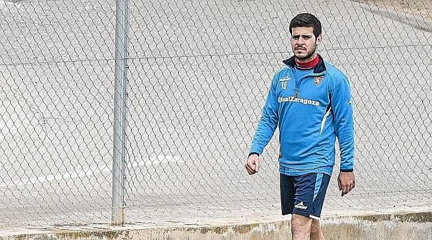 Víctor Rodríguez, durante la fase de recuperación de su lesión / Toni Galán (Marca)