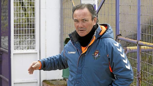 Juan Ignacio Martínez, en un entrenamiento del Valladolid. / CÉSAR MINGUELA (MARCA)