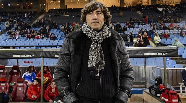 Patxi Salinas, en el partido de Copa contra el Atlético. / DIEGO G.SOUTO / MARCA