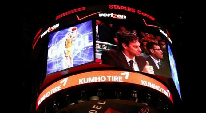 ¿El homenaje de despedida a Gasol en los Lakers?