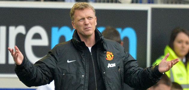 David Moyes lamenta una ocasi�n fallada durante un partido del United. FOTO: AFP� 