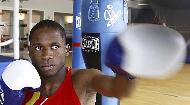 Kelvin, durante uno de sus entrenamientos