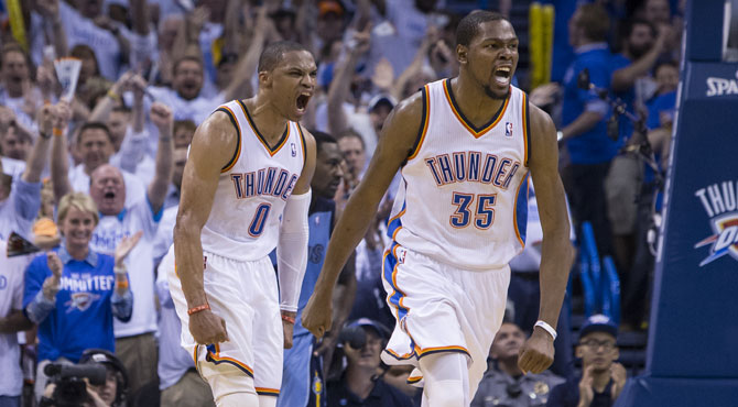 Fiesta del triple-doble de los Thunder ante los Clippers
