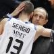 Messina fue el primero en felicitar a Sergio Rodr�guez tras su MVP de la Euroliga