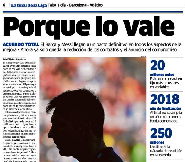 Las claves del acuerdo Barcelona-Messi