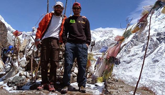 Egocheaga y Ramos durante una escalada / Foto: FB Jorge Egocheaga