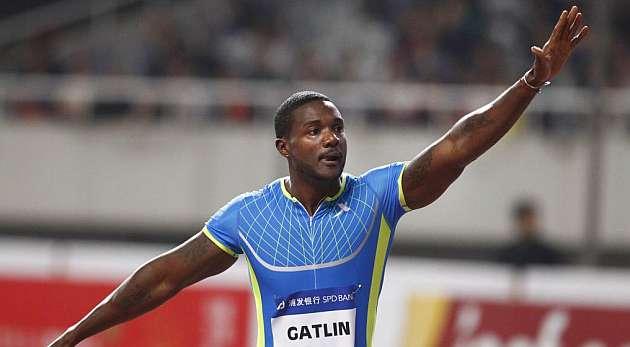 Justin Gatlin vence Pekín con un tiempo de 9,87