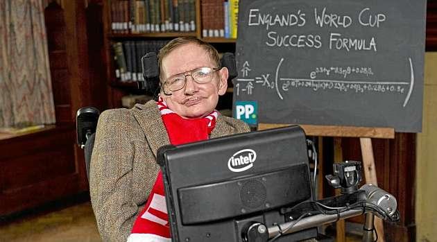 Stephen Hawking da con la fórmula para que Inglaterra gane el Mundial