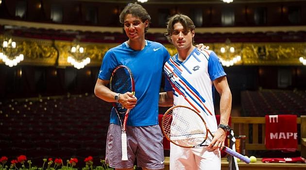 Ferrer se disfraza de Djokovic