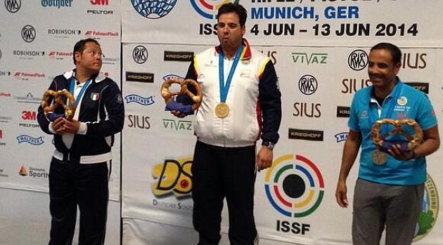 Antonio Bailón, oro en foso olímpico