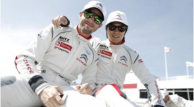 Pechito y Ma Qing Hua, ambos de Citroën, ganaron en Moscú / Foto: WTCC