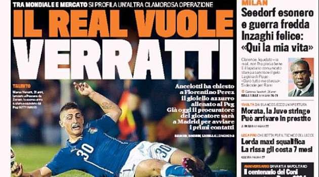 Verratti's agent in talks with Real