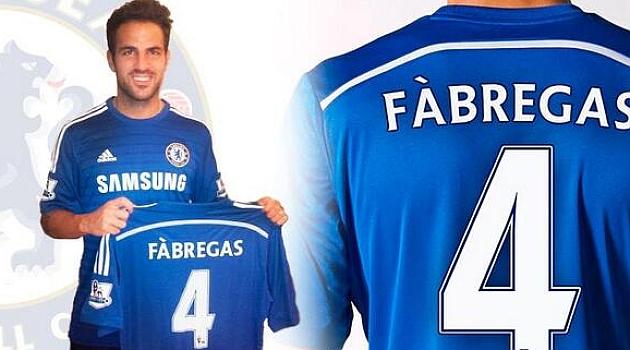 Cesc Fábregas ya es jugador del Chelsea