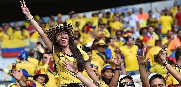 El Colombia-Grecia, en imágenes